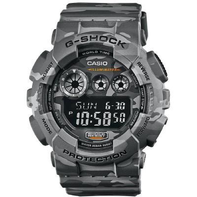 CASIO卡西欧手表 G-SHOCK系列双显运动防震防水时尚男表 GD-120CM-8电子表 男士 200m防水表