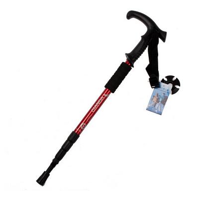 魔铁 纽卡索系列登山杖 四节越野跑手杖 t型手柄减震伸缩防身健走杖 徒步行走拐杖 儿童老人户外爬山杖