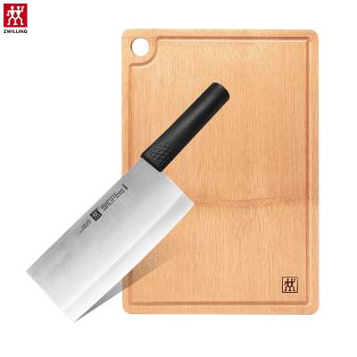 双立人(ZWILLING)Feel刀具2件套31990-002不锈钢切菜刀竹制大砧板组合