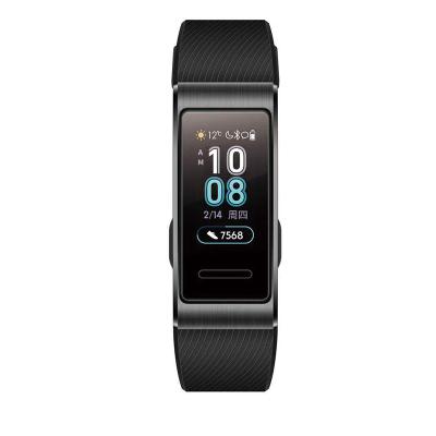 華為手環3 Pro NFC版 曜石黑(曜石黑運動腕帶)(高清彩屏+智能手環+睡眠監測+觸控+GPS+游泳+支付+Android+IOS通用+運動手環)