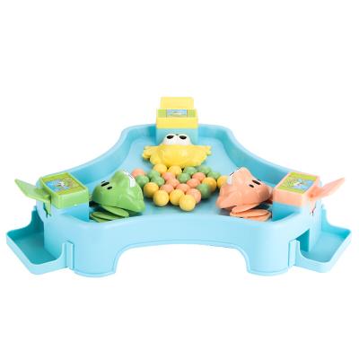 貝恩施 兒童益智玩具 男孩 女孩玩具戲珠桌面游戲親子互動青蛙吃豆【3人款】