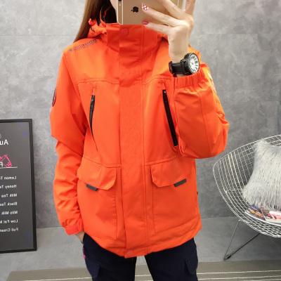 魅扣 沖鋒衣男女三合一可拆卸潮牌韓國冬季加絨加厚戶外滑雪登山服套裝