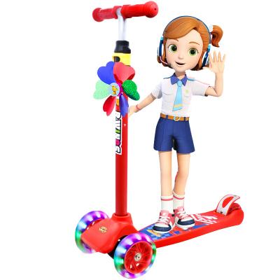 超級飛俠兒童滑板車小孩滑步踏板車2-6-12歲 四輪閃光多檔可調抖音網紅同款 AIR版