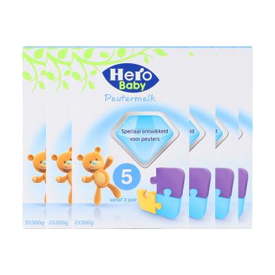 【環球hi淘】【假一賠百】6盒裝|荷蘭美素天賦力Hero Baby美素嬰幼兒奶粉牛奶粉5段 2歲以上700g