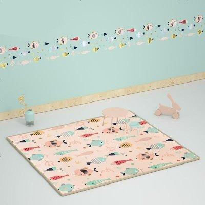 babycare寶寶爬行墊加厚xpe環保兒童泡沫地墊客廳家用嬰兒爬爬墊里米尼海洋223CM*146C