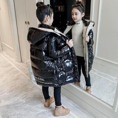 【精品特卖】女童棉衣外套2019新款儿童羽绒棉服中大童中长款加厚韩版洋气棉袄 迈诗蒙