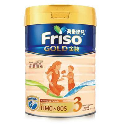 Friso 港版美素佳兒 金裝 嬰兒配方奶粉 3段(1-3歲) 900g/罐 荷蘭原裝進口