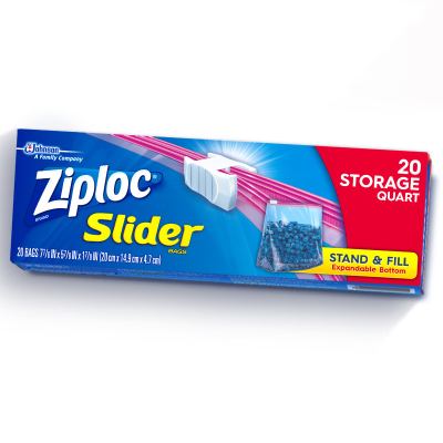 密保諾(ziploc)美國進口 拉鏈式 可站立 密實袋 保鮮袋 非保鮮膜 中號20個 全美熱賣品牌