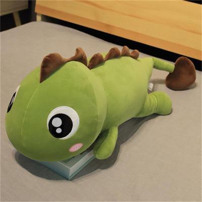 可愛恐龍毛絨玩具娃娃抱枕女生睡覺公仔床上抱著女孩玩偶長條超軟 莎丞