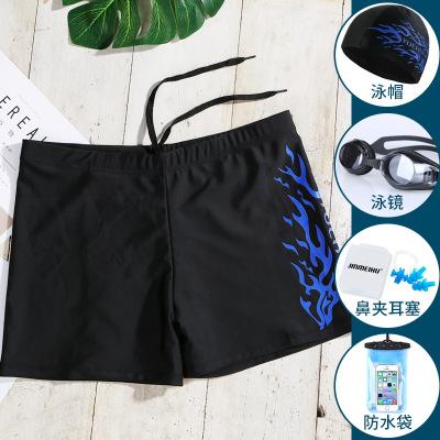 冀云沐泳褲男防尷尬 五分平角專業溫泉大碼泳衣裝備男士游泳褲泳鏡套裝