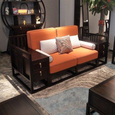 HOTBEE新中式沙发实木中式沙发组合禅意现代大户型家具定制别墅客厅沙发