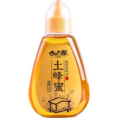 心之源 土蜂蜜 純正天然農家自產野生峰蜜 小瓶裝擠壓瓶236克