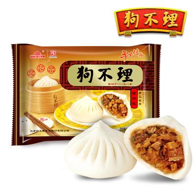 天津狗不理老湯醬肉包420g手工面食方便速食包子早餐速凍包子12個