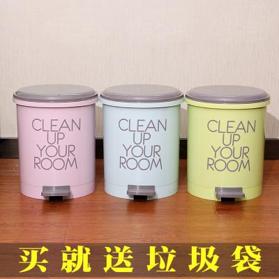 創意圓形垃圾桶家用腳踏式衛生桶臥室客廳衛生間有蓋廚房腳踩筒簍