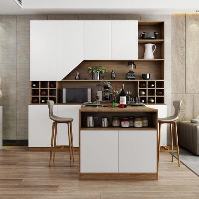 客厅餐边柜餐桌一体藤印象组合家用靠墙酒柜定制柜子北欧茶水柜储物柜