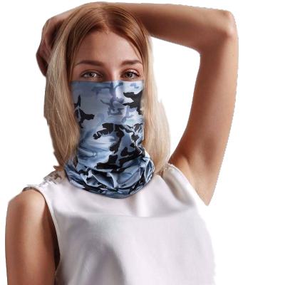 冰絲圍脖套夏季防曬頭巾男女士戶外運動面罩遮耳騎行魔術面巾薄款頭巾/遮耳 莎丞