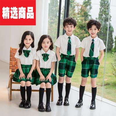 小學生班服定制夏季男童女童套裝學院風校服幼兒園園服兒童畢業服 男款 160cm