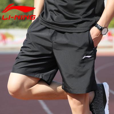 李寧短褲男運動褲春季夏季速干涼爽透氣健身五分褲男褲