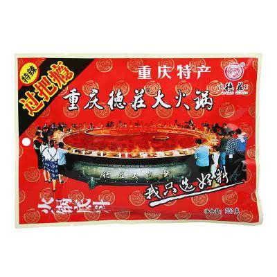 德庄 过把瘾火锅底料300g袋装 辣味 重庆火锅底料 调味品 调味料