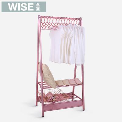名至晾衣架落地折叠室内双单杆衣帽架落地卧室阳台简约凉衣挂衣架