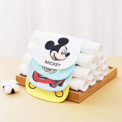 迪士尼(DISNEY)嬰幼兒童純棉吸汗巾寶寶4層紗布墊背巾棉柔軟吸濕透氣隔汗巾 5條裝