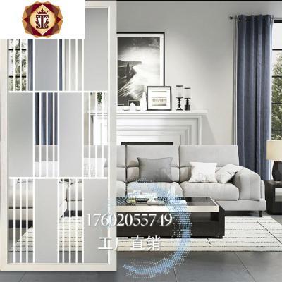 客廳現代簡約玻璃屏風臥室隔斷墻裝飾藝術雙面入玄關小戶型輕奢