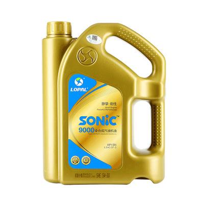 龍蟠(LongPan) SONIC9000 SN 5W-30全合成機油汽車潤滑油正品4L 新老包裝隨機發貨