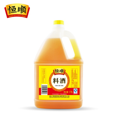 【中華特色】鎮江館 恒順料酒1.75L 調味品料 去腥料酒 調味燒菜增鮮提味烹飪料酒 華東