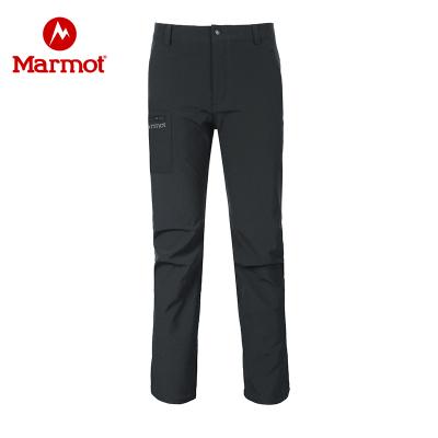 Marmot/土撥鼠戶外冬防潑水耐磨透氣加絨保暖M1男式軟殼褲