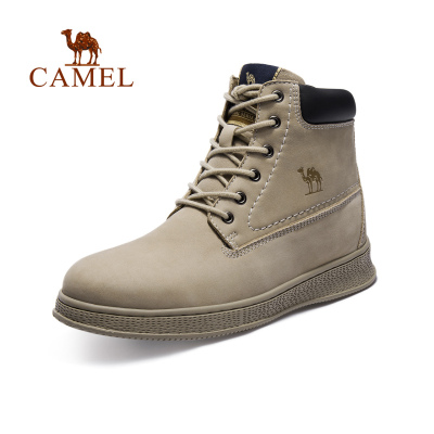 CAMEL骆驼户外工装休闲鞋 秋冬男款运动休闲时尚耐磨牛皮工装休闲靴