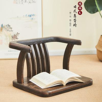 日式榻榻米座椅和室椅閃電客實木飄窗靠背座椅無腿椅子茶室坐椅地臺椅子