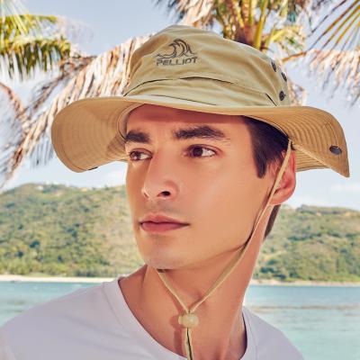 伯希和戶外垂釣防曬帽男女運動遮陽防曬夏季漁夫帽排汗透氣耐磨速干穩固折疊旅游太陽帽子