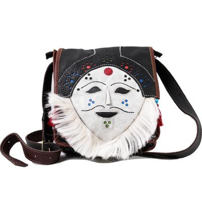 【中華特色館】西藏館 番德林 面具包斜跨包 民族風輕巧攜帶方便
