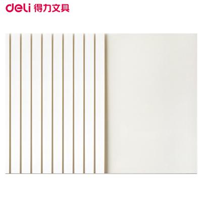 得力(deli)3867 A4/6mm熱熔封套10個/包 2包裝 白色 熱熔書本裝訂封皮封套合同標書膠條裝訂機熱熔封套