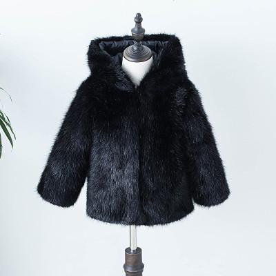 儿童皮草新款冬装水貂毛外套男童女童棉袄洋气加厚棉衣宝宝毛毛衣