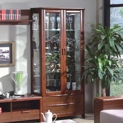 御品工匠 實木酒柜 餐柜 櫥柜 展示架 現代中式家具K0785