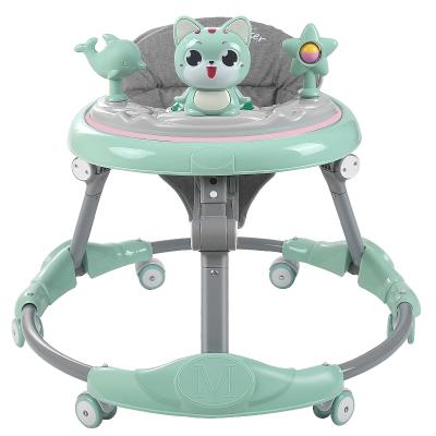 嬰兒學步車寶寶學步車6-18個月多功能嬰兒學步手推車防o型腿可調節高度助步