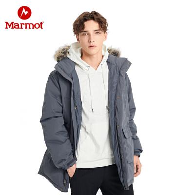 Marmot土拨鼠19秋冬新款男士保暖拒水鹅绒700蓬羽绒服