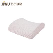 苏宁极物记忆棉慢回弹靠枕 粉色条纹