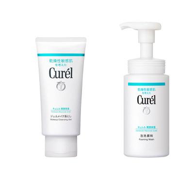 2瓶裝  Curél(Curel)珂潤 干燥敏感肌用卸妝乳蜜130g + 潤浸保濕潔面泡沫 150ml