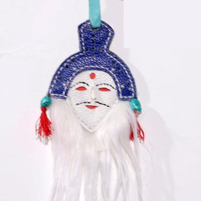 【中華特色館】西藏館 番德林 民族手工藝品面具 藏式面具 卡通玩具小