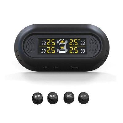 誉霸 胎压监测 外置胎压计汽车胎压监测器无线太阳能高精度汽车轮胎报警器