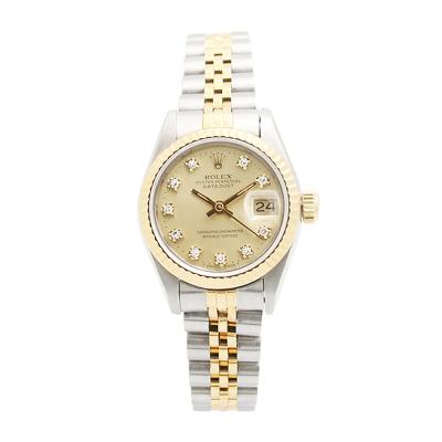 【二手95新】勞力士Rolex日志型系列69173 10DI香檳盤小包鉆女表自動機械奢侈品鐘手表腕表
