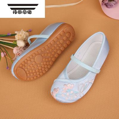 老北京兒童布鞋女童鞋民族繡花鞋學生舞蹈鞋公主鞋兒童旗袍鞋