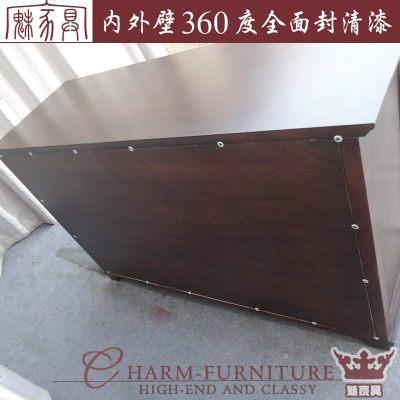 夢引 HH系列實木餐邊柜紅橡木碗柜美式餐邊柜餐廳邊柜現代美式北京定做
