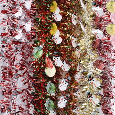 新新精艺 圣诞树 圣诞节装饰道具桌面柜台商场橱窗摆件多彩带灯树创意晚会场景布置道具节庆用品豪华A款 圣诞印花彩条A