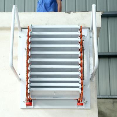 加厚壁掛式閣樓伸縮樓梯室內室外平臺復式家用折疊升降收縮拉伸梯 鋁鎂合金3.6--3.8米