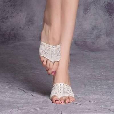 肚皮舞鞋子 前脚掌套 一体脚掌套 半掌脚套 芭蕾舞体操舞蹈练功鞋