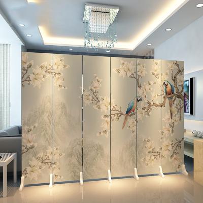 中式屏风隔断客厅折叠移动简约现代客厅办公室古达小户型布艺折屏