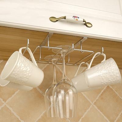免釘夾片式多功能紅酒杯架咖啡杯馬克杯架玻璃杯架懸掛倒掛家用